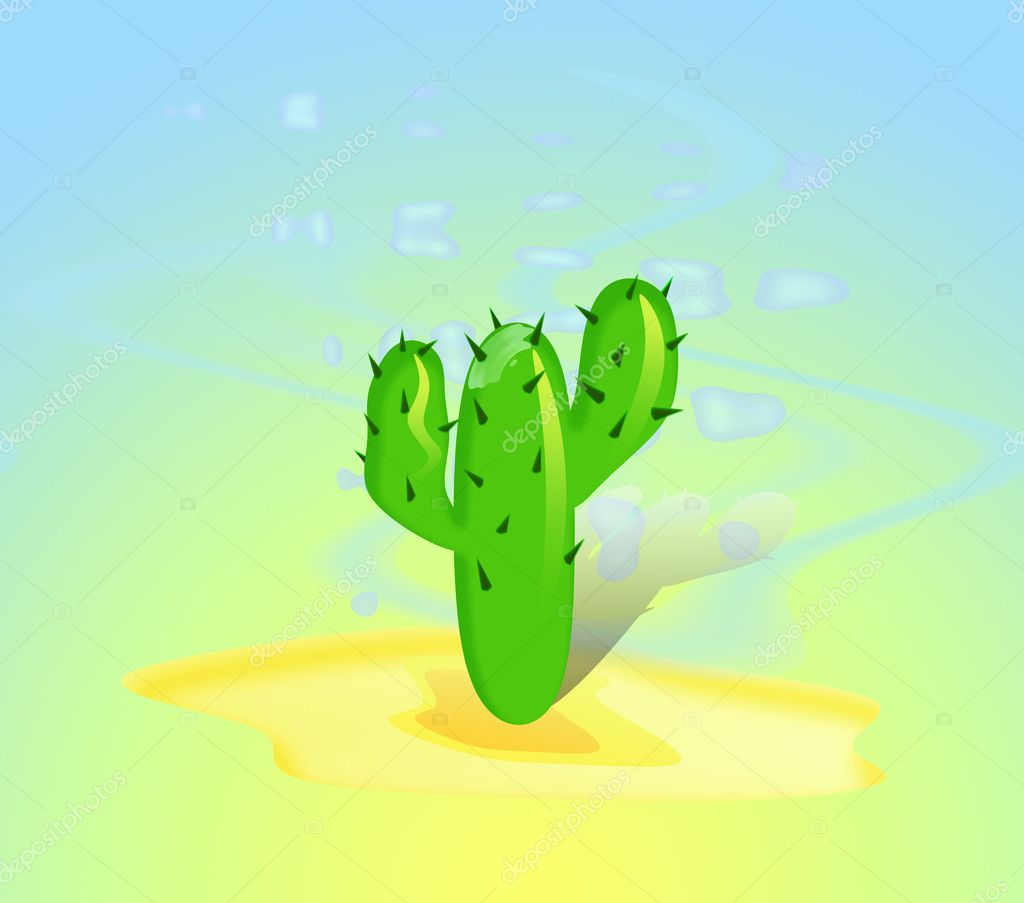 Thirst,, Factory, A cactus, Mexico, Sahara, A flowerpot, The hot, A tree, Thirst, The droughty, Cactuses — Stock Photo #6456893