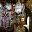 Moroccan Khamsa hamsa Hands of Fatima Good Luck in medina souk - Stock Photo