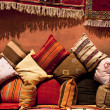 Stock Photo: Morocccushions in street shop in medinsouk
