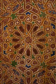 Detail of traditional wooden ornament in Morocco — Stock Photo