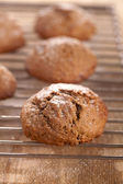 Soft ginger cookies cooling — Stock Photo