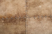 High resolution stiched suede leather texture — Stock Photo