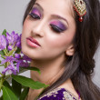Beautiful young indian bride - Stock Photo