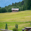 Small refuge in The Dolomites, Northern Italy - Stock Photo