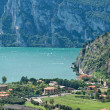 View from Nago village on lake Garda, Italy - Stock Photo