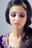 Beauty shot of a young asian bride — Stock Photo