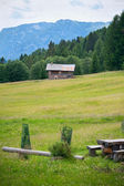 Small refuge in The Dolomites, Northern Italy — Stock Photo