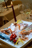 Raw fishes and crawfishes — Stock Photo