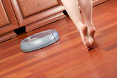 Home cleaning robot — ストック写真