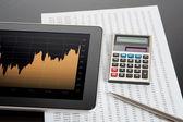 株式市場を分析します。 — Stock fotografie