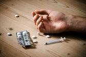 Sobredosis de drogas — Foto de Stock