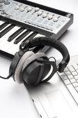 Componist werkplek — Stockfoto