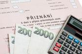 Czech tax form — Stock Photo