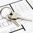 Key to housing — Foto de Stock