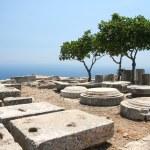 Ancient Thera on Santorini — Stock Photo