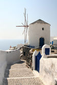 Windmill on Santorini — Stock Photo