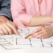 Family house planning — Stock Photo