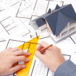 Architect with blueprints — Stock Photo #6560505