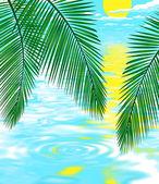 Background illustration of beach — Stock Photo