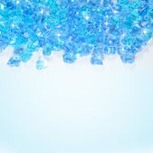 Blue ice background — Stock Photo