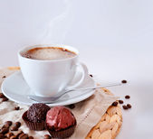 Cup of morning coffee — Stock Photo