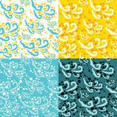 Sea waves pattern — Stock Vector