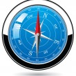 Metal compass — Stockvectorbeeld