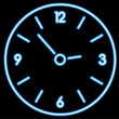 Neon clock — Vector de stock