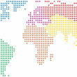 Colorful world map — Vector de stock