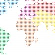 Colorful world map — Vector de stock #6214989