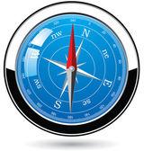 Metall kompass — Stockvektor