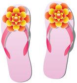 Pair of flip flops — Stock Vector