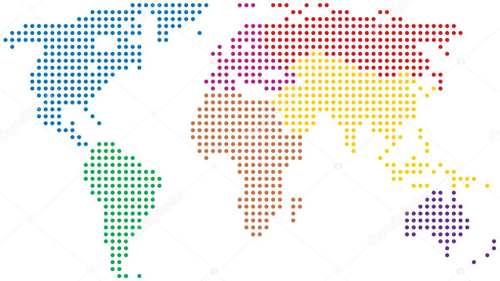 Vector abstract colorful world map — 图库矢量图片 #6214989