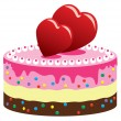 Royalty-Free Stock Vector Image: Valentine cake