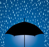 Umbrella protection from rain drops — Stock Vector