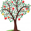Royalty-Free Stock Vector Image: Apple tree with fruits