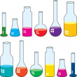 Laboratory glassware - Stock Vector