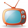 Royalty-Free Stock Vector Image: Retro tv set