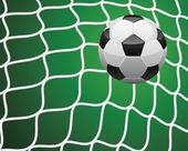 Soccer goal — Stock Vector