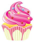 Różowe ciastko — Wektor stockowy