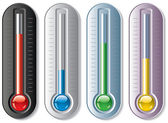 Set of thermometers — Stock Vector