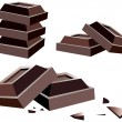 Stock Vector: Chocolate bars