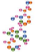 Abstract molecule — Stock Vector