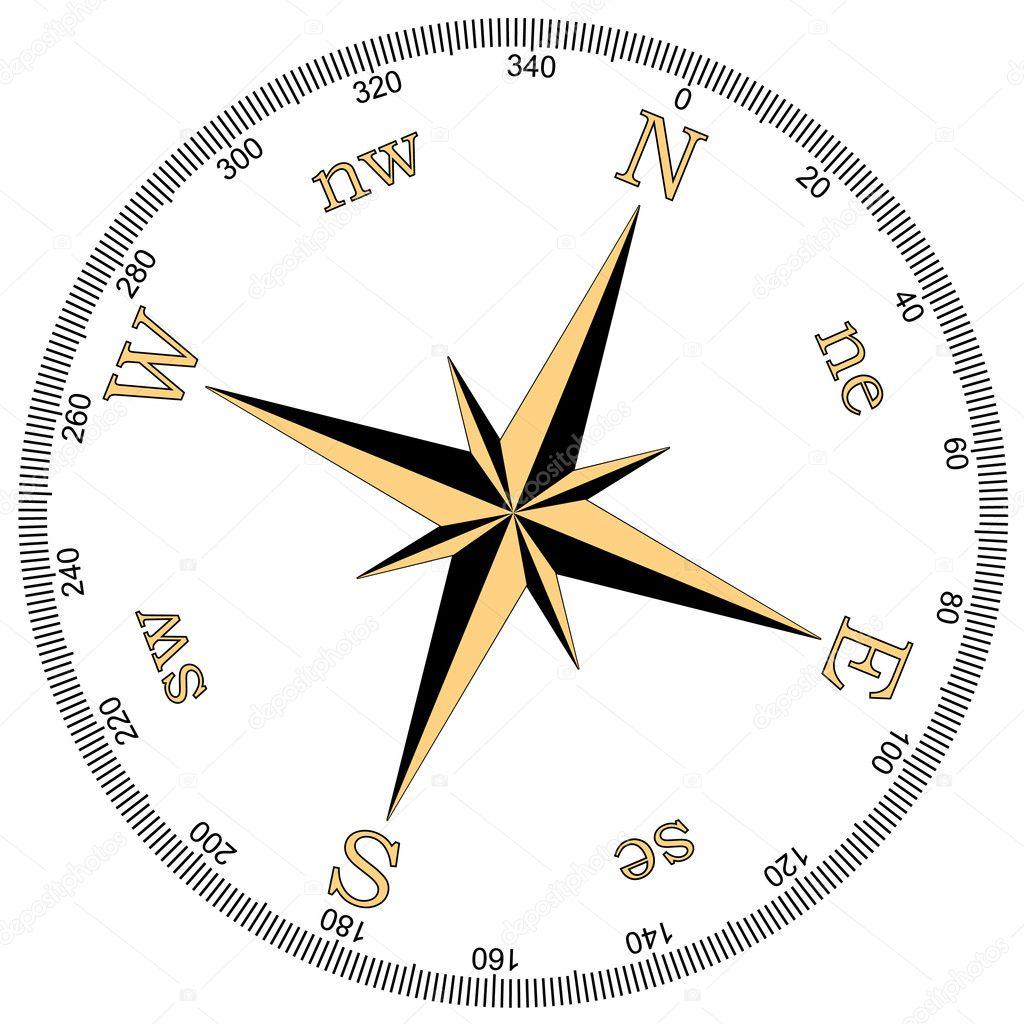 指南针矢量插画 — 矢量图片作者 dmstudio