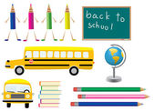 Símbolos de la escuela — Vector de stock