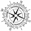 Stock Vector: Grunge compass