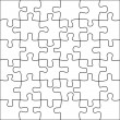 Stock Vector: Puzzle background