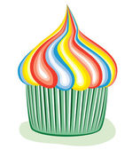Colorful cupcake — Vector de stock