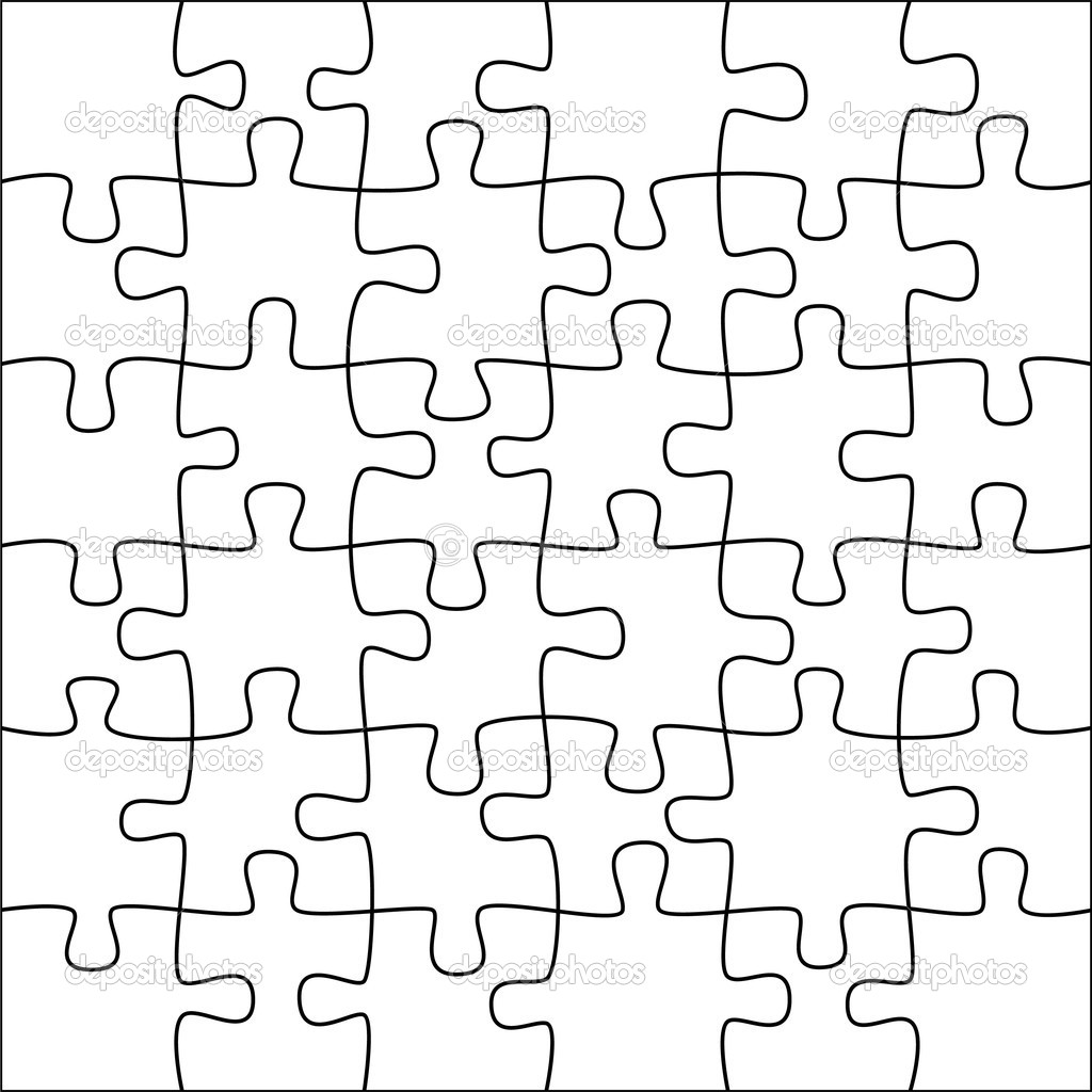 Vector puzzle background to place it over your photo  Stock Vector #6720654