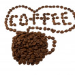 Brown coffee beans in a cup - Stock Photo